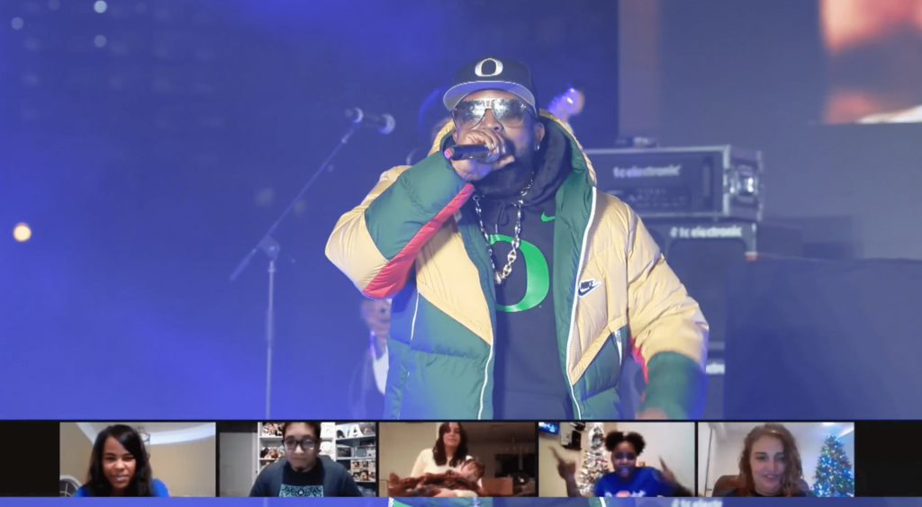 Carvana employees tune in via Zoom for rapper Big Boi.